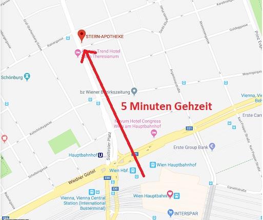 In 5 Minuten vom Hauptbahnhof in die Stern-Apotheke!